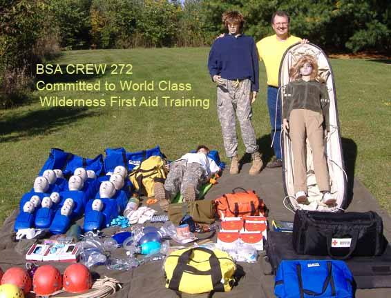 BSA Crew 272 is committed to World Class Wilderness First Aid Training